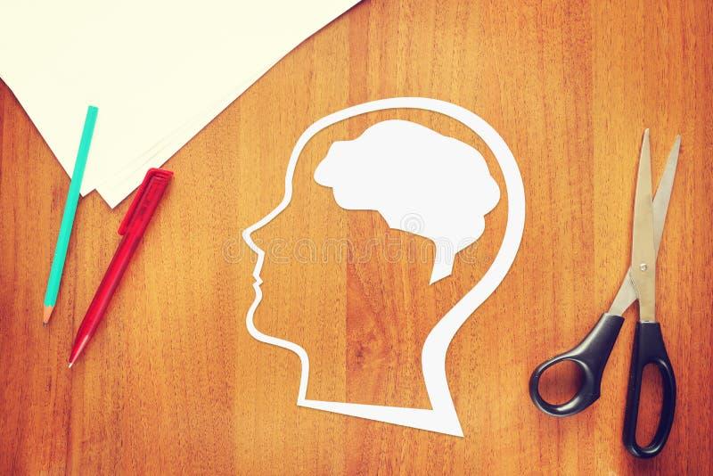 Psykologi av den mänskliga hjärnan royaltyfria bilder