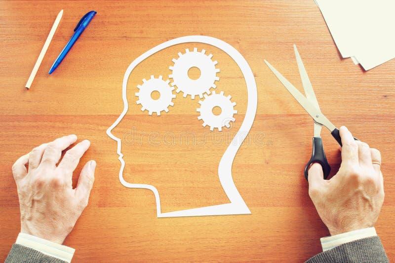 Psykologi av den mänskliga meningen arkivfoto