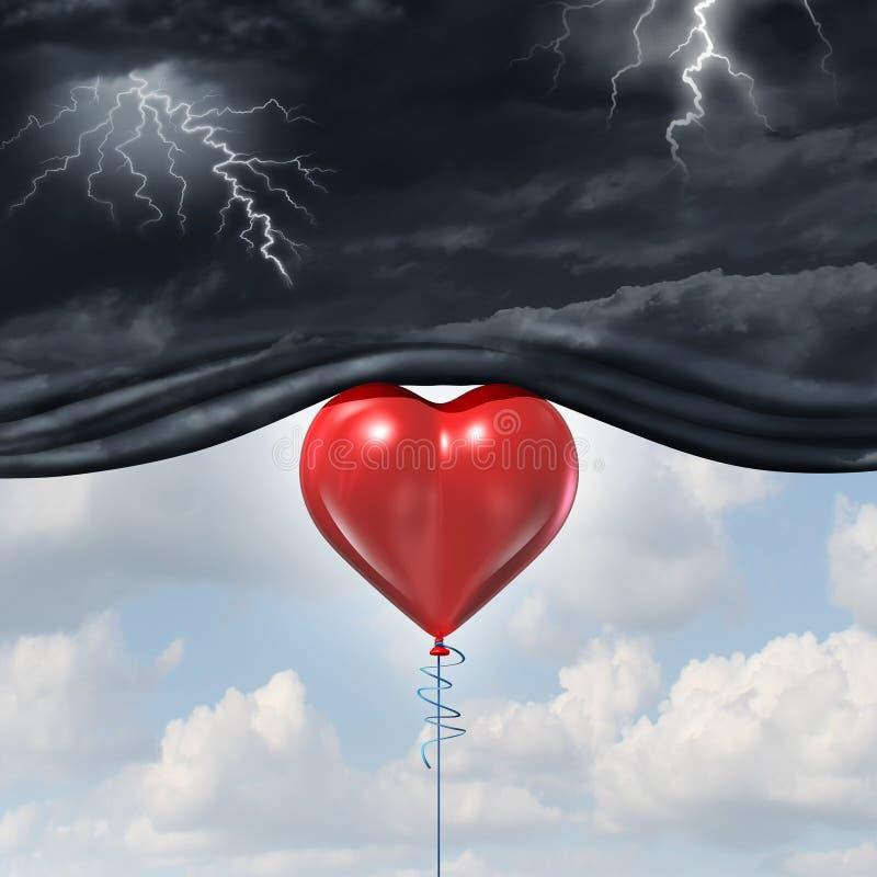 Psykologi av mänsklig förälskelse royaltyfri illustrationer