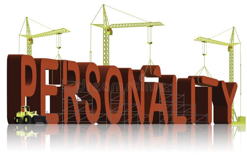 psykologi för personlighet för byggandebyggnadstecken royaltyfri illustrationer