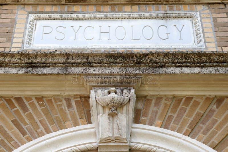 Psykologibyggnad arkivfoton