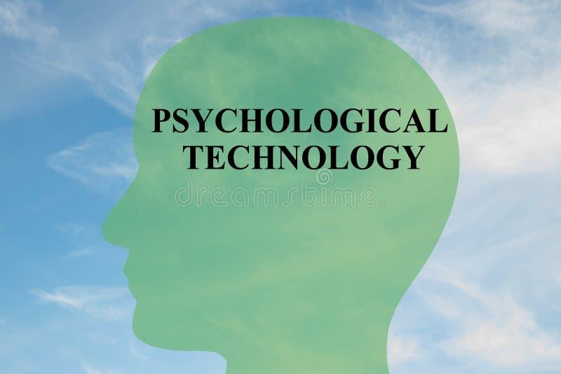 Psykologiskt teknologibegrepp stock illustrationer