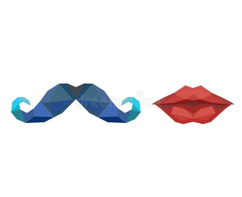 PSymbols - Dames & Heren (de lippen en de snor) royalty-vrije stock foto