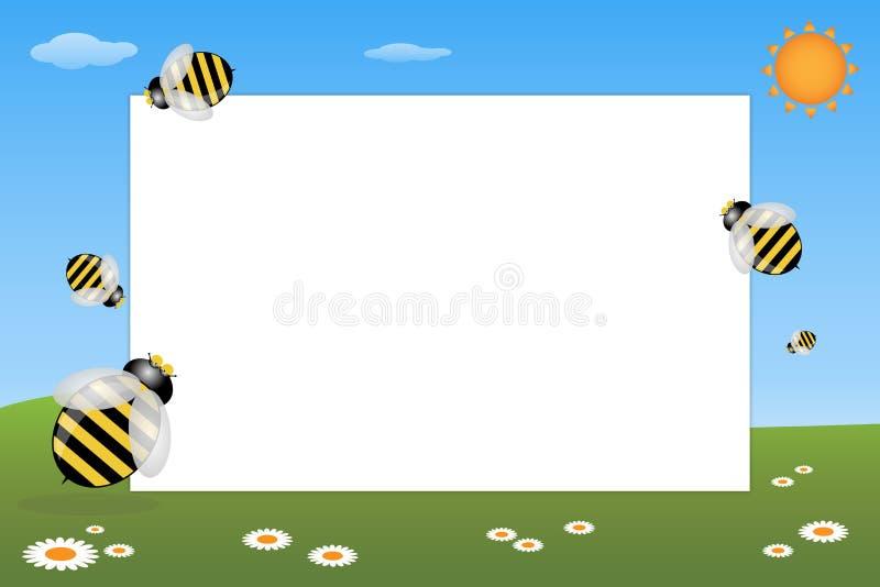 pszczół ramy dzieciak royalty ilustracja