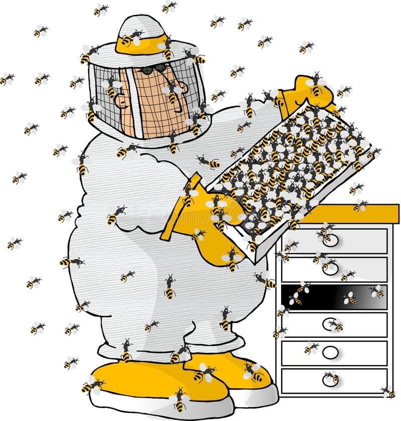 pszczelarz ilustracji