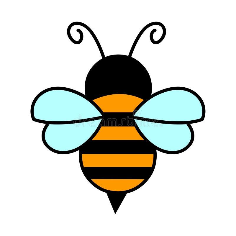 Pszczoła logo wektorowa ilustracyjna ikona ilustracja wektor