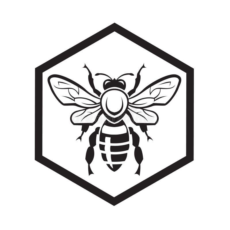 Pszczoła i miód ilustracja wektor