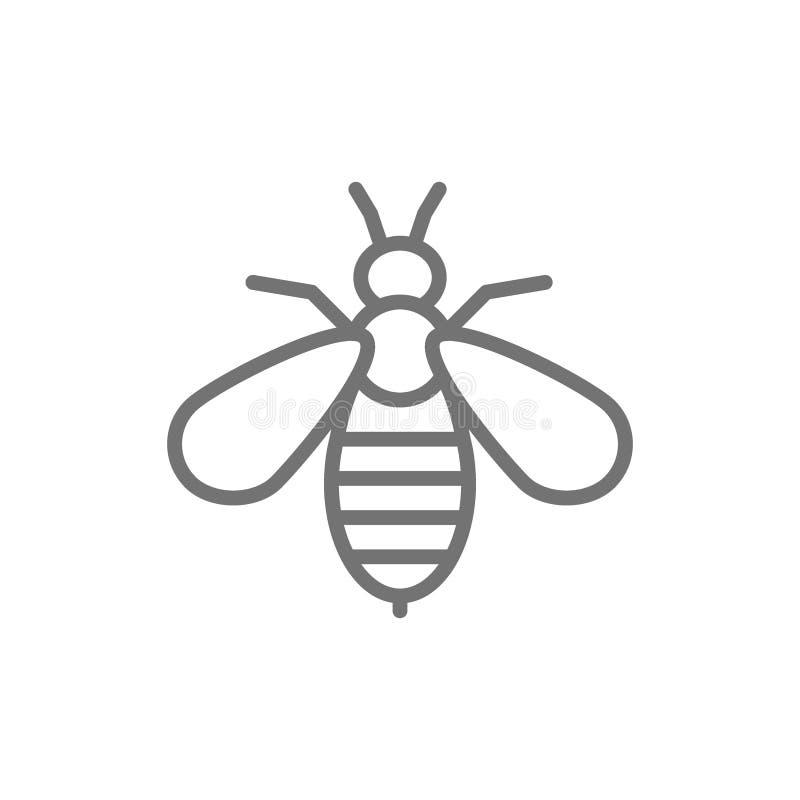 Pszczoła jadu terapii linii ikona pojedynczy bia?e t?o ilustracja wektor
