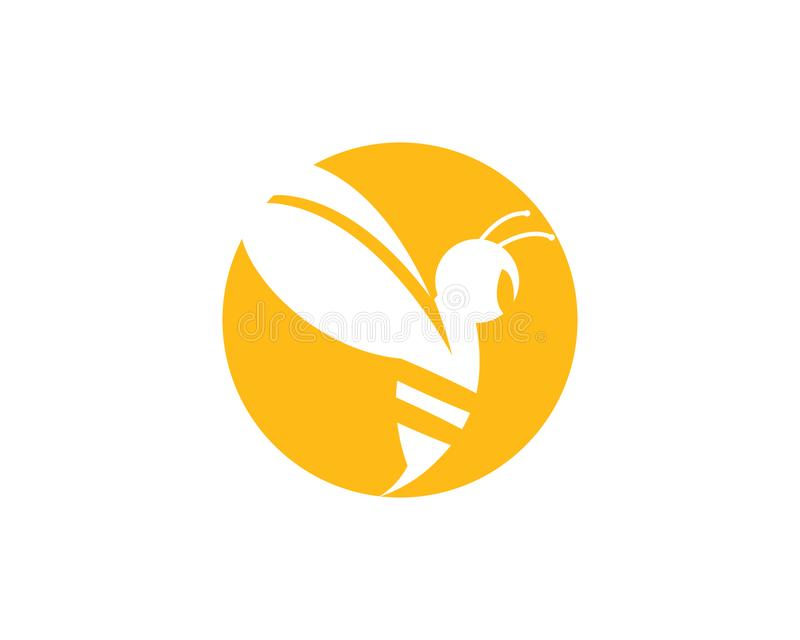 Pszczoła loga szablonu wektoru ikona royalty ilustracja