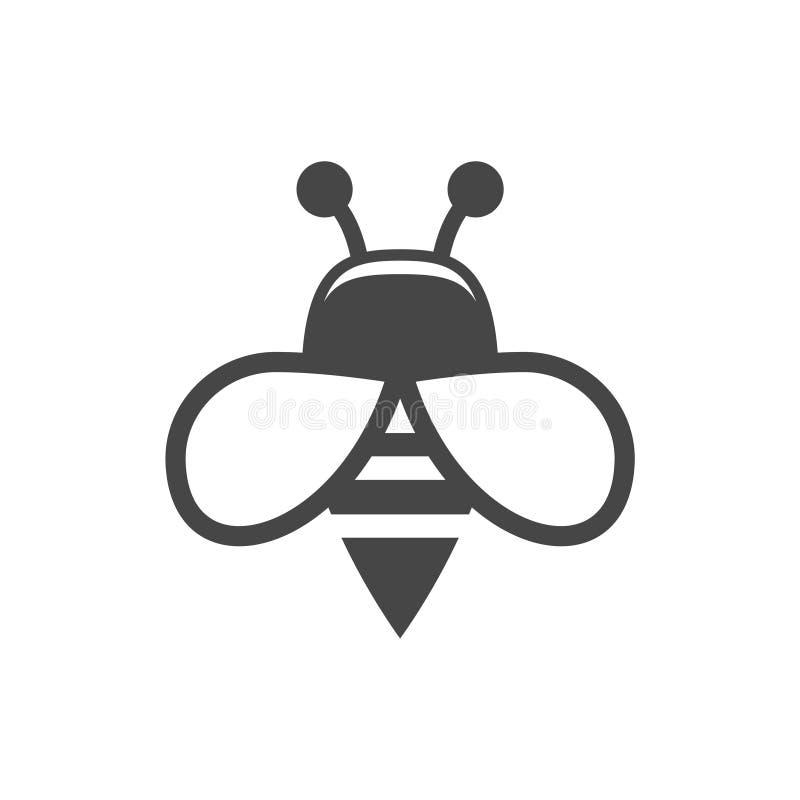 Pszczoła loga znaka ikona ilustracja wektor