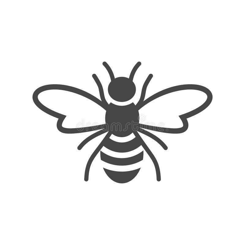 Pszczoła loga znaka ikona royalty ilustracja