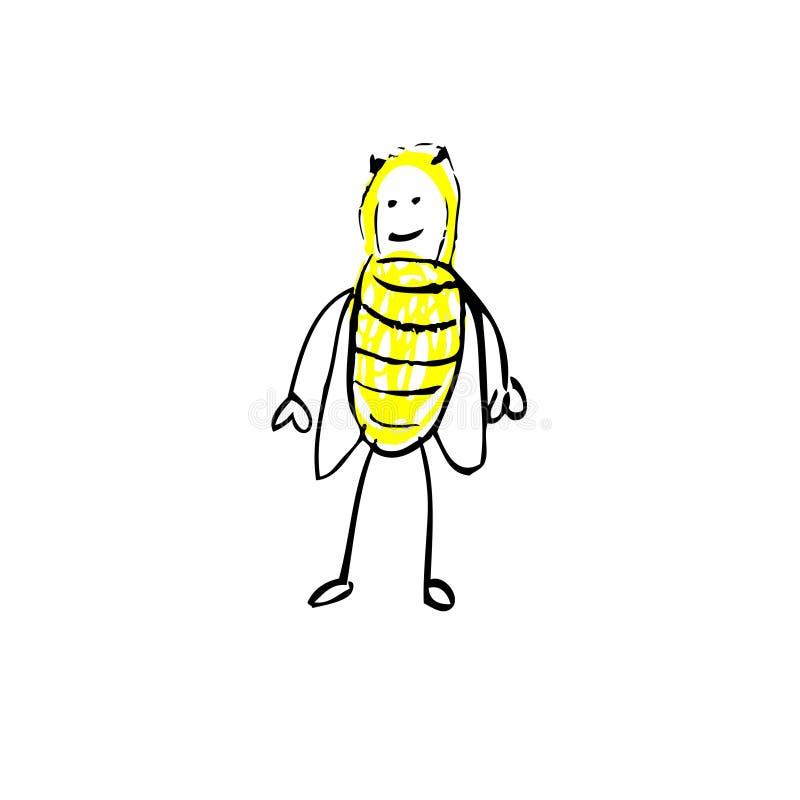 pszczoła mamrocze ilustracji