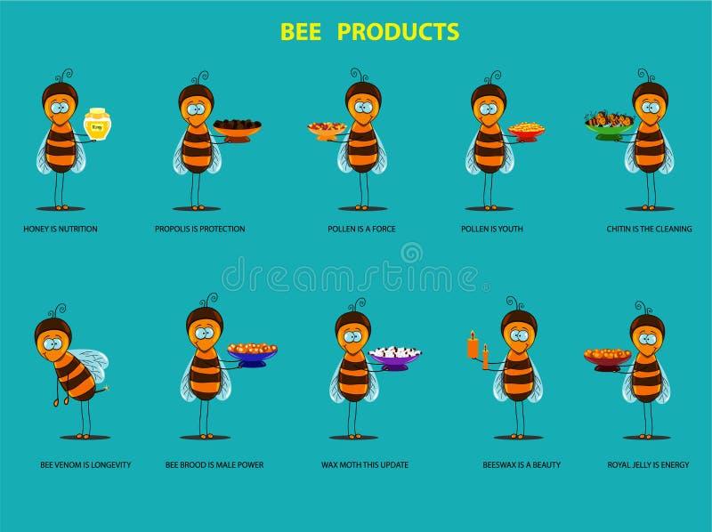 Pszczoła produkty royalty ilustracja