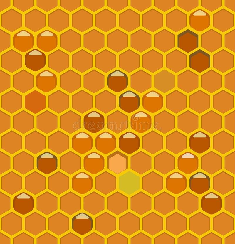 Pszczoła roje z miodem zdjęcia royalty free