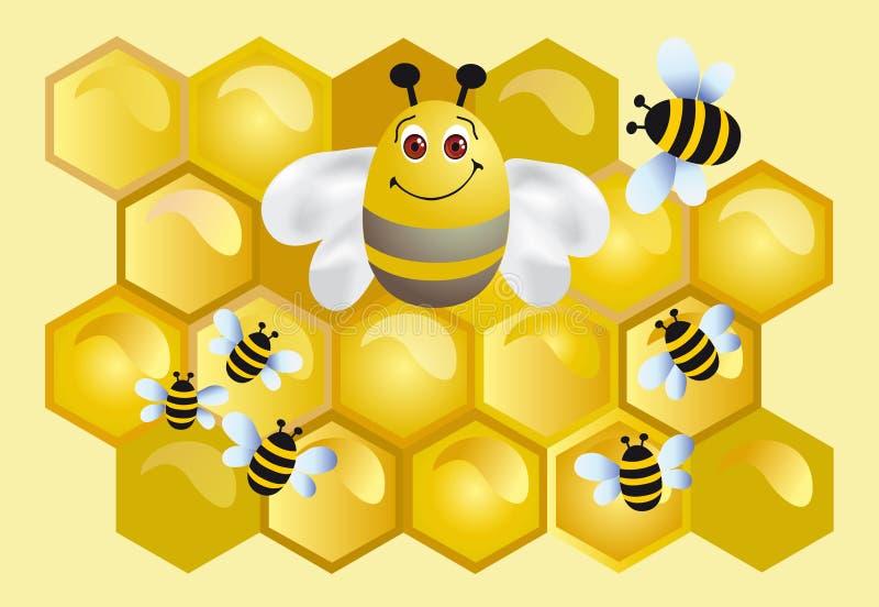 pszczoła szczęśliwa ilustracji