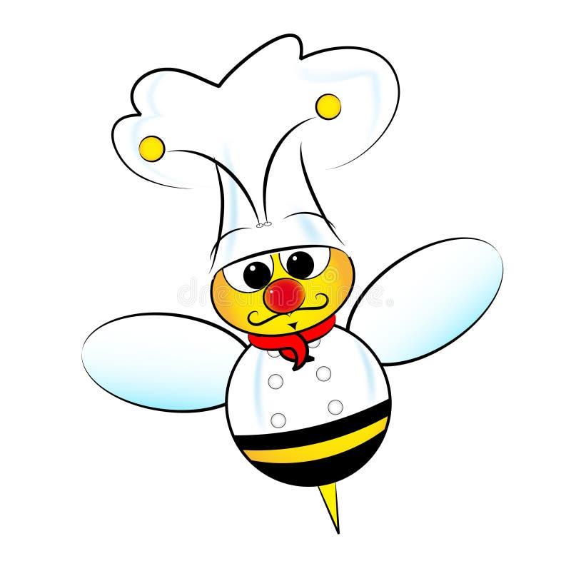 pszczoła szef kuchni ilustracja wektor