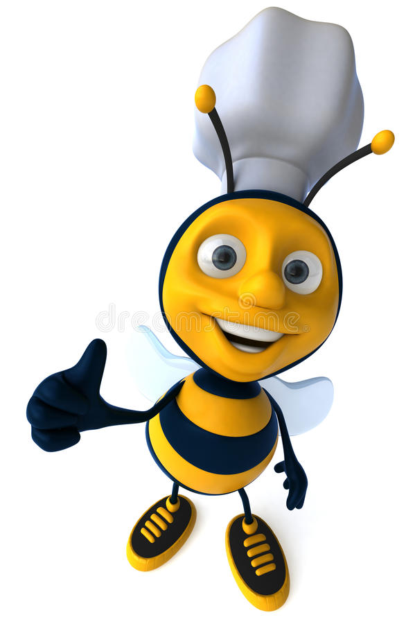 pszczoła szef kuchni ilustracji