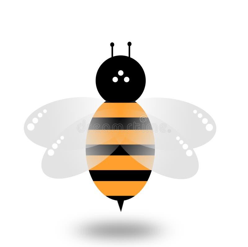 Pszczoła wektor na białym tle ilustracja wektor