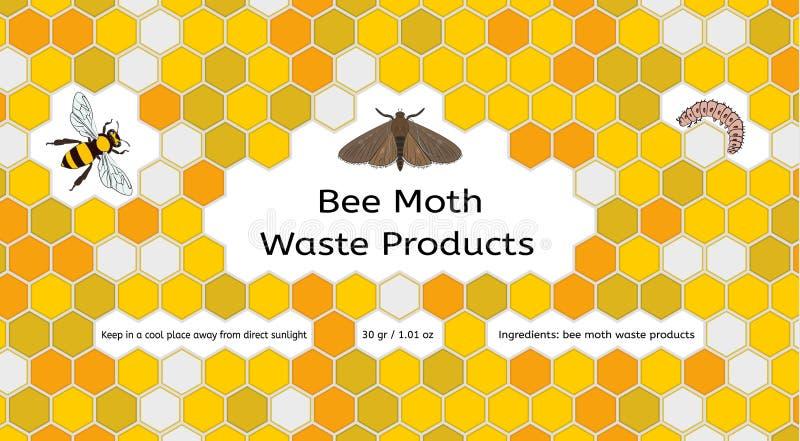 Pszczoła, wosku ćma, waxworm, pszczoły grępla ilustracji