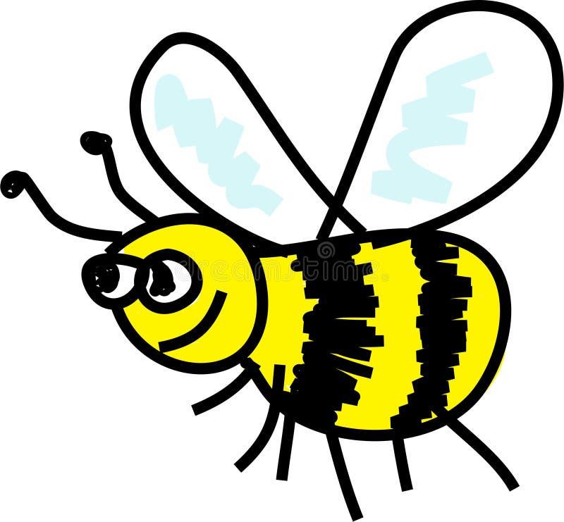 pszczoła zajęty ilustracja wektor