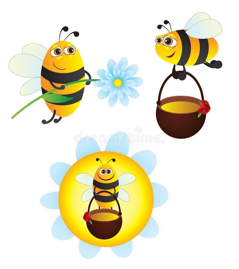 pszczoły royalty ilustracja