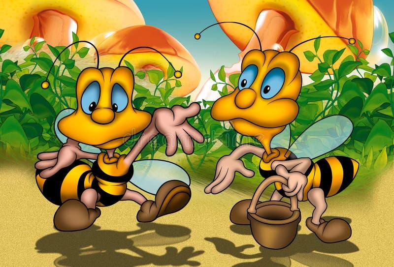 pszczoły dwa royalty ilustracja