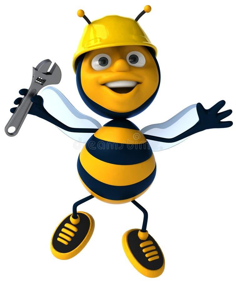 pszczoły działanie royalty ilustracja