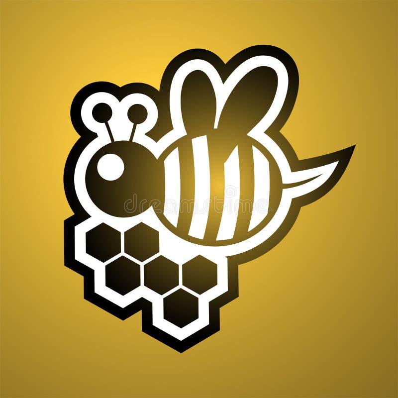 Pszczoły ikona ilustracja wektor