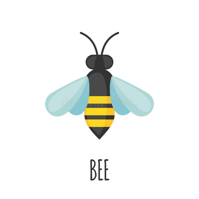 Pszczoły ikona w mieszkanie stylu royalty ilustracja