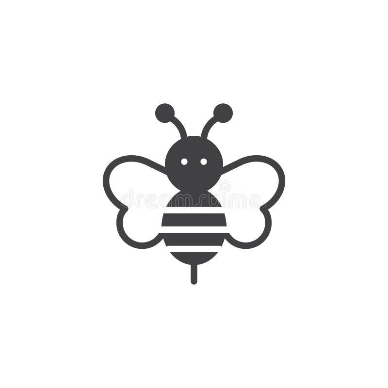 Pszczoły ikony zwierzęcy wektor ilustracja wektor