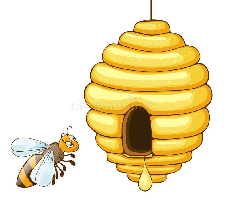 pszczoły latanie ilustracja wektor
