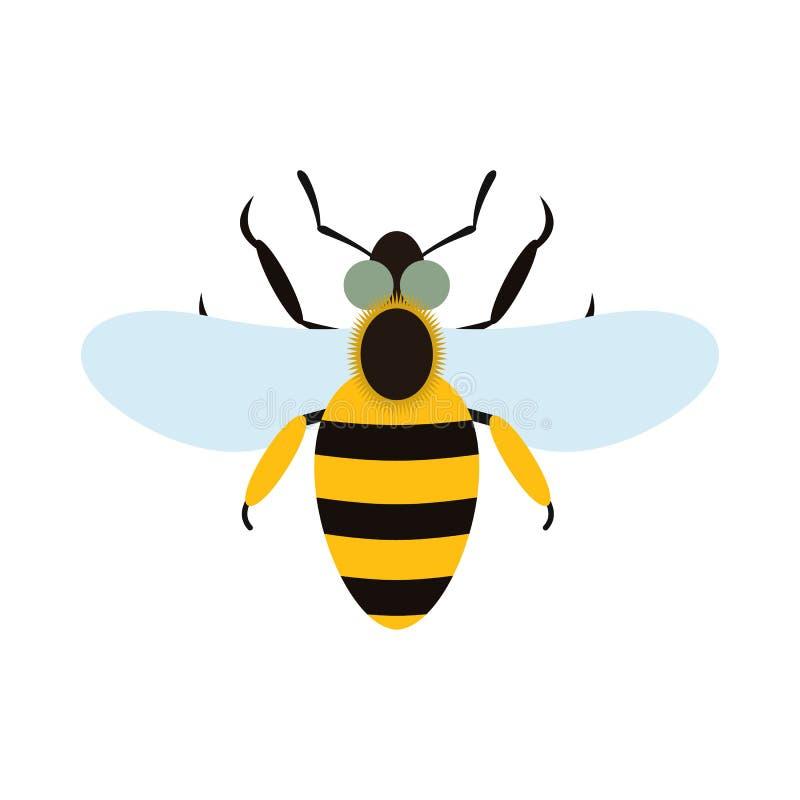 Pszczoły mieszkania ikona ilustracji