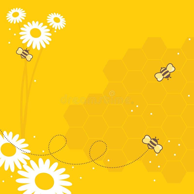 pszczoły miodowe ilustracja wektor