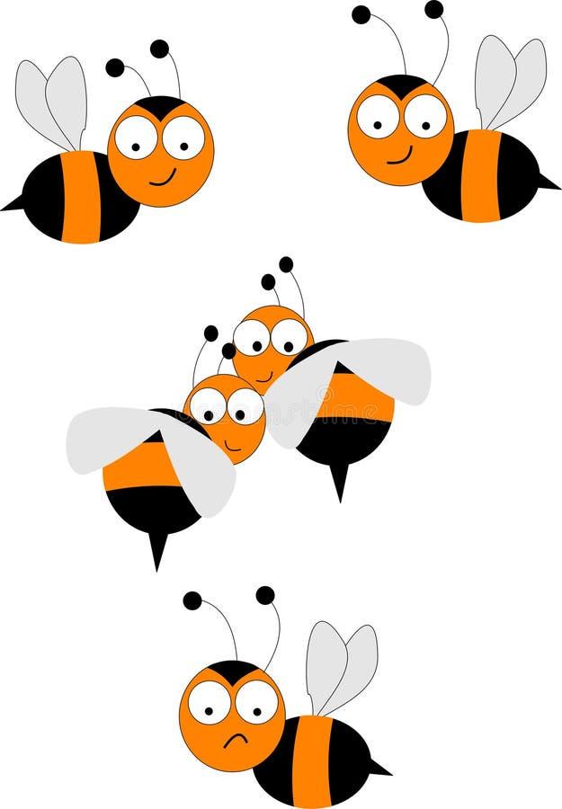 pszczoły mrowie royalty ilustracja