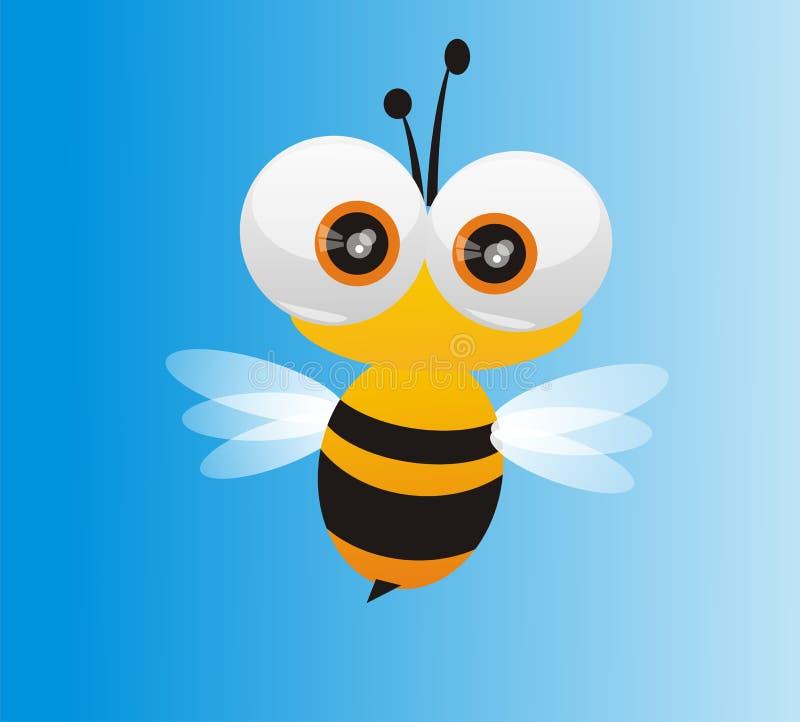 pszczoły słodką muchy miodowy w chowanego obraz royalty free