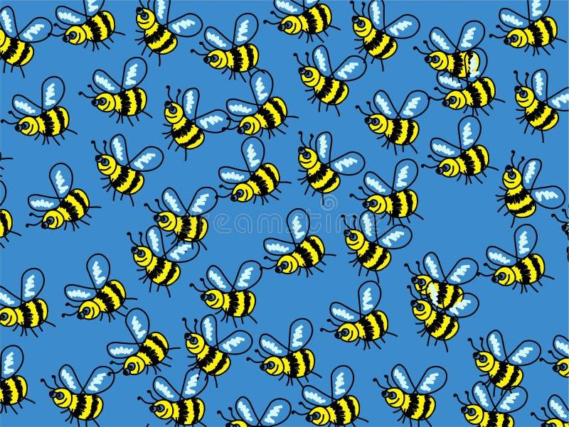 pszczoły tapeta ilustracja wektor
