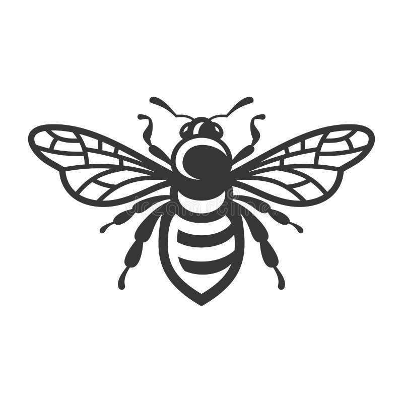 Pszczo?y ikona Pluskwa logo na Białym tle wektor ilustracji
