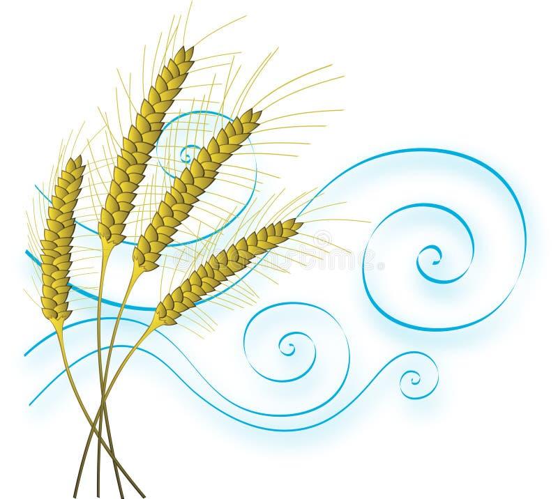 pszenica stylizowany wiatr royalty ilustracja