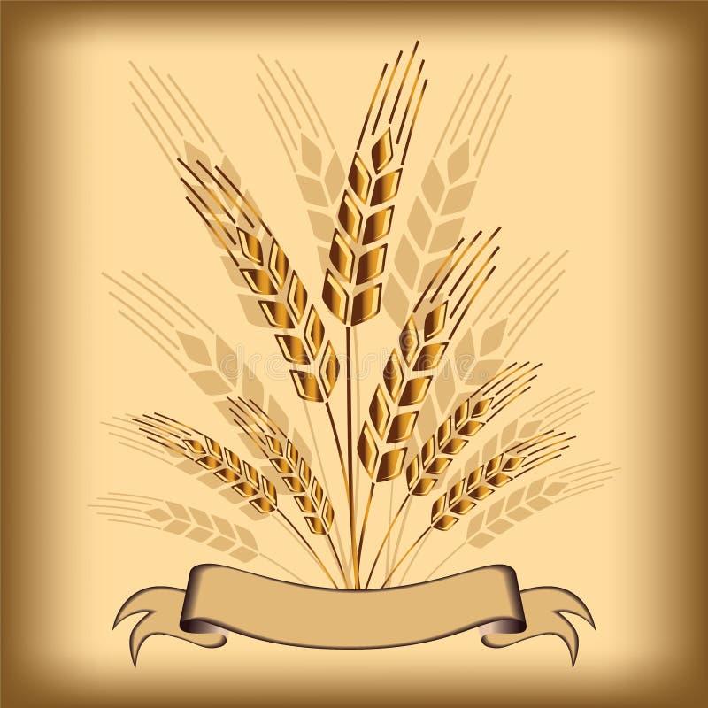 Pszeniczna ikona ilustracja wektor