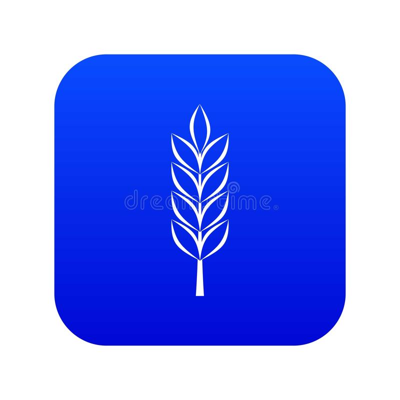 Pszenicznej kolec ikony cyfrowy błękit ilustracja wektor