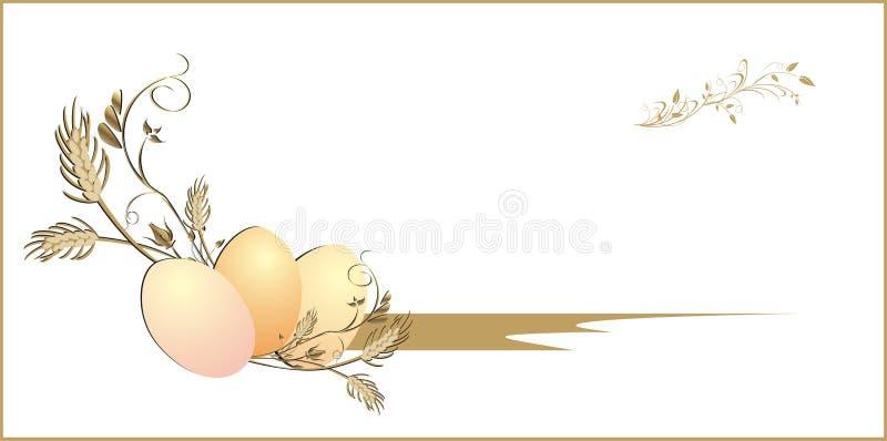 pszeniczni karciani jajka ilustracja wektor