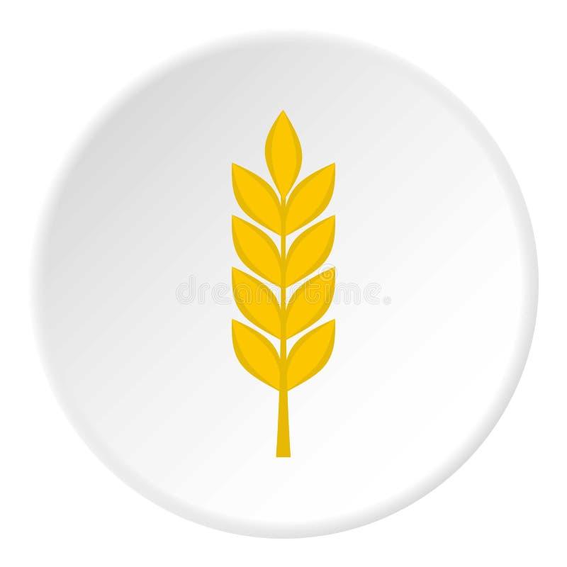 Pszeniczny kolec ikony okrąg ilustracja wektor