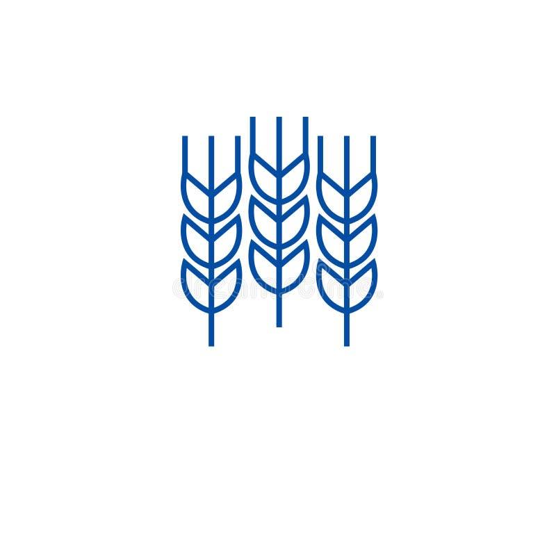 Pszenicznych adra ikony kreskowy pojęcie Banatka groszkuje płaskiego wektorowego symbol, znak, kontur ilustracja ilustracji