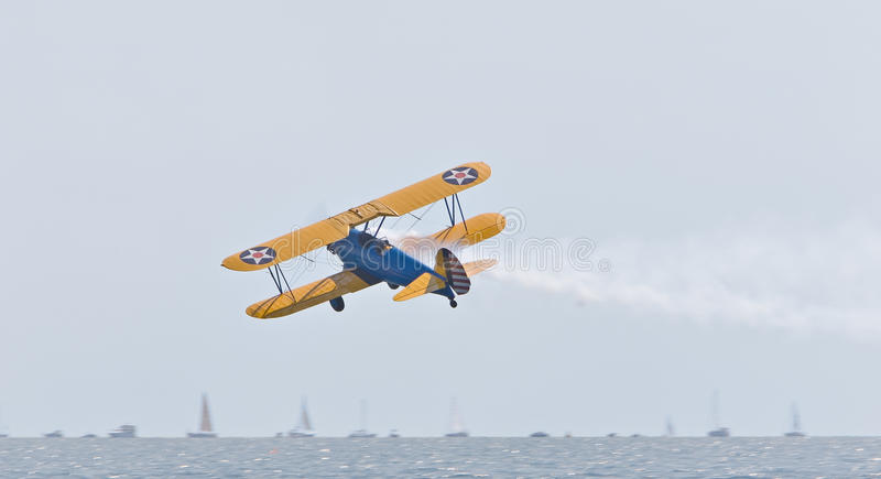 Download PT-17 Stearman stock image. Image of lake, training, aircraft - 10884817