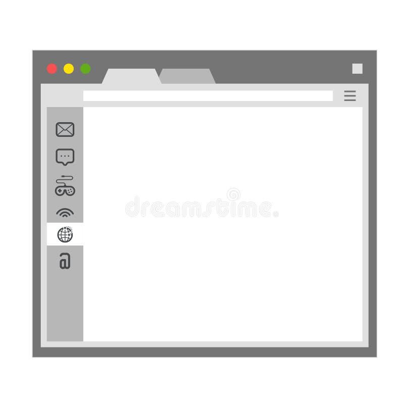 ptaków błękitny wyszukiwarka otwierający miejsca szablonu okno royalty ilustracja