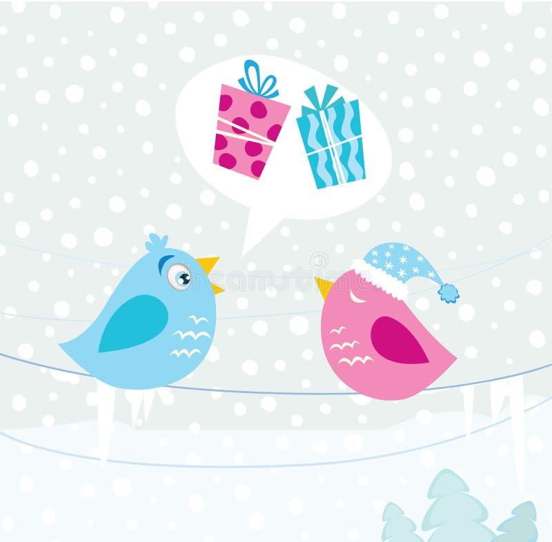 ptaków boże narodzenia ilustracja wektor