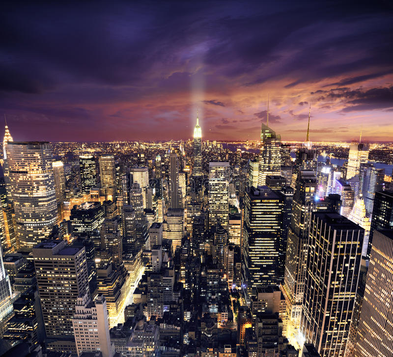 ptaków Manhattan nowej perspektywy wiev York zdjęcia royalty free