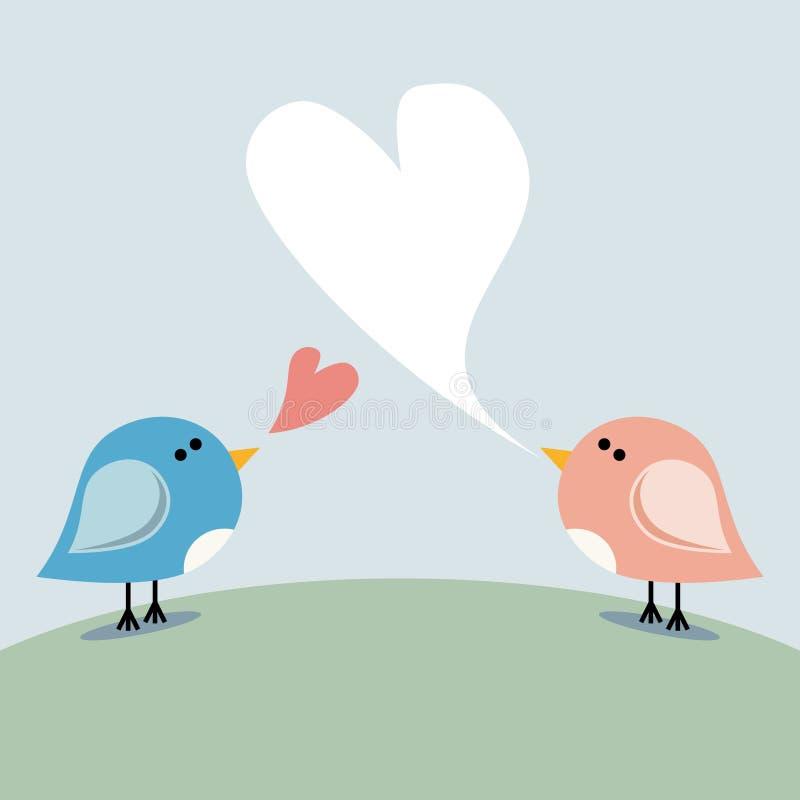 ptaków miłości śpiew ilustracji