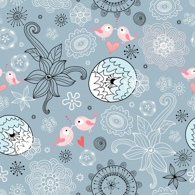 ptaków miłości tekstura ilustracja wektor