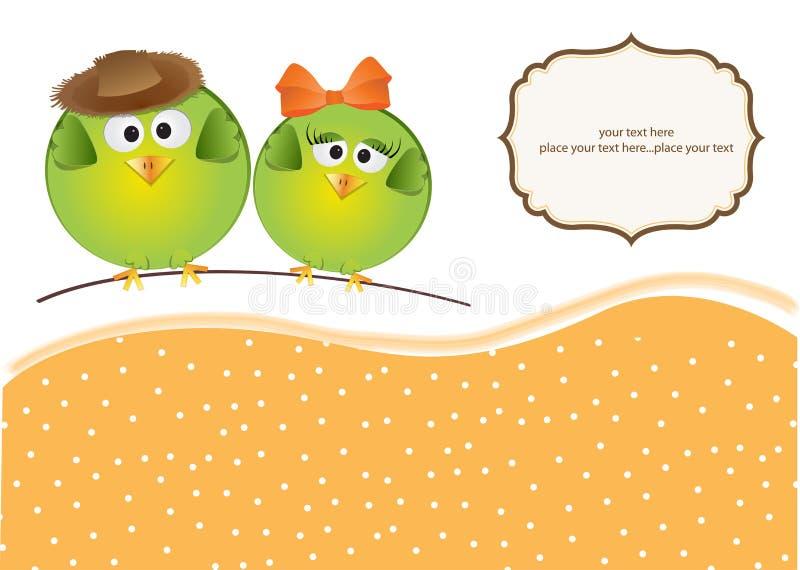 ptaków pary miłość ilustracji